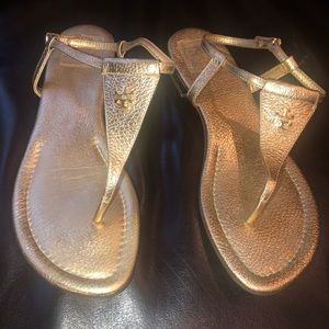 Tory Burch Britton Sandals - Gold - Size 9